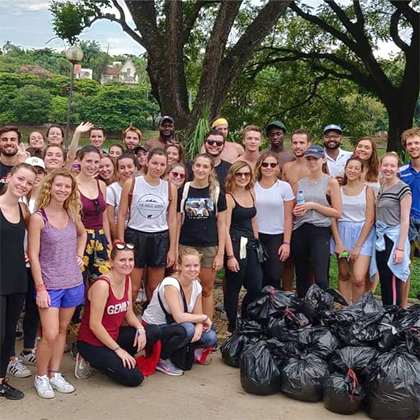 Clean up day à Belo-Horizonte avec HOPE et Project Rescue Ocean